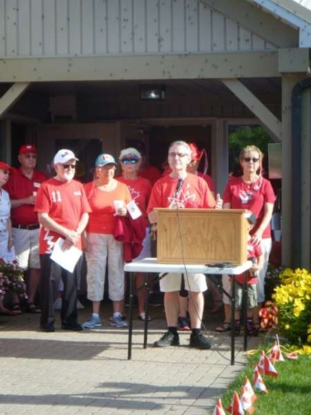 Canada Day Speakers MP Bruce Stanton