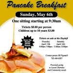 Pancake Breakfast Tickets $8:00/$3.00 Children up to 10 yrs