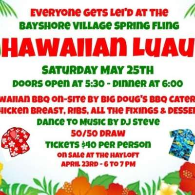 Hawaiian Luau: May 25th, 2019