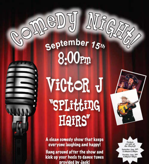 Comedy Night Sept 15th - Tickets - Sat Aug 25 11 am/Tues Aug 28 6-7 pm