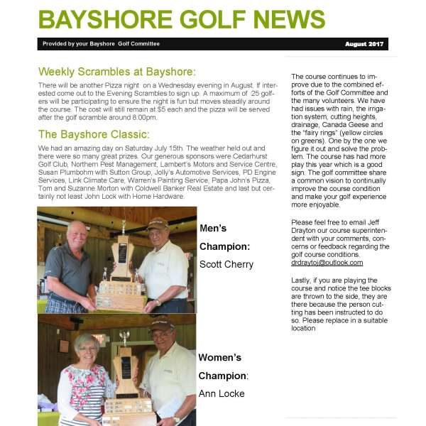Golf News August 2017 (2 pg PDF)