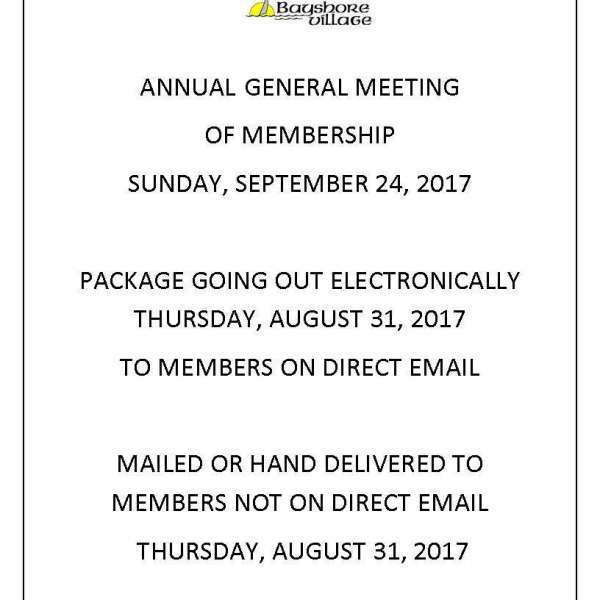 ANNUAL GENERAL MEETING OF MEMBERSHIP