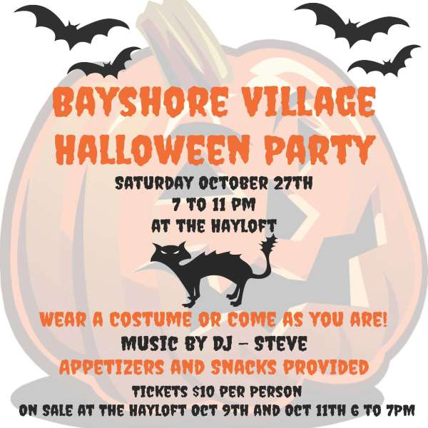 Halloween Party Saturday Oct 27