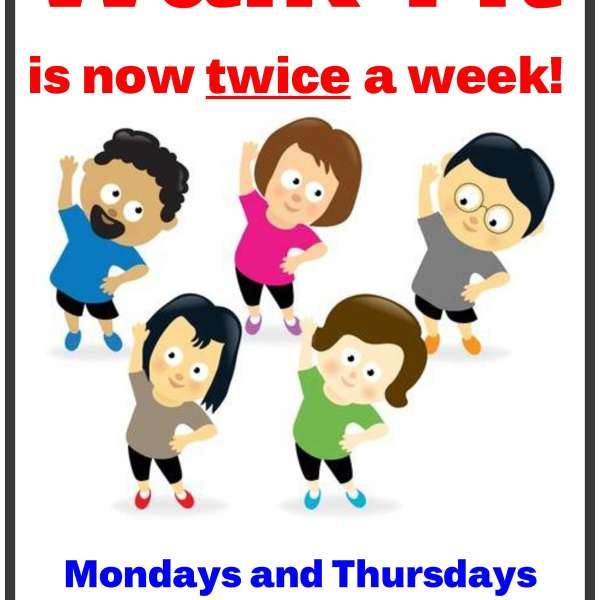Walk-Fit Mondays & Thursdays 10-11 am
