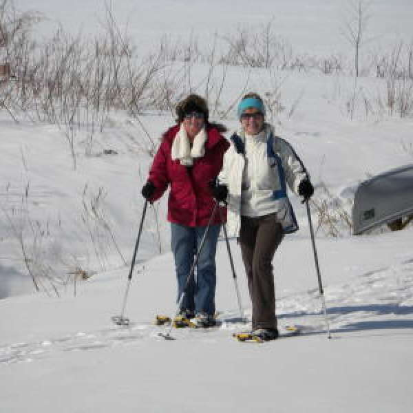 Cross Country Skiing on Golf Course